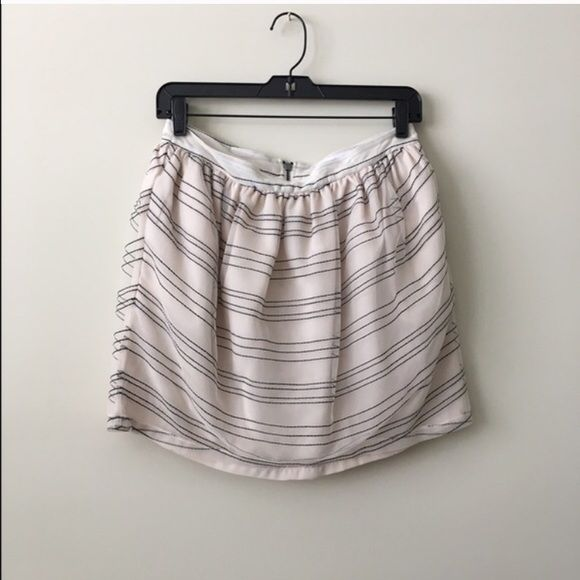 BCBG striped miniskirt Brand NWT! Accentuated waistband & zipper in the bag. Never worn before! Get 10% off when you bundle! BCBGeneration Skirts Mini