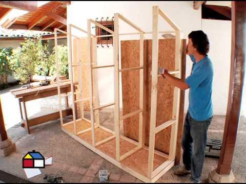 C mo hacer una bodega de exterior caseta de jardin en - Como hacer una caseta de madera para el jardin ...