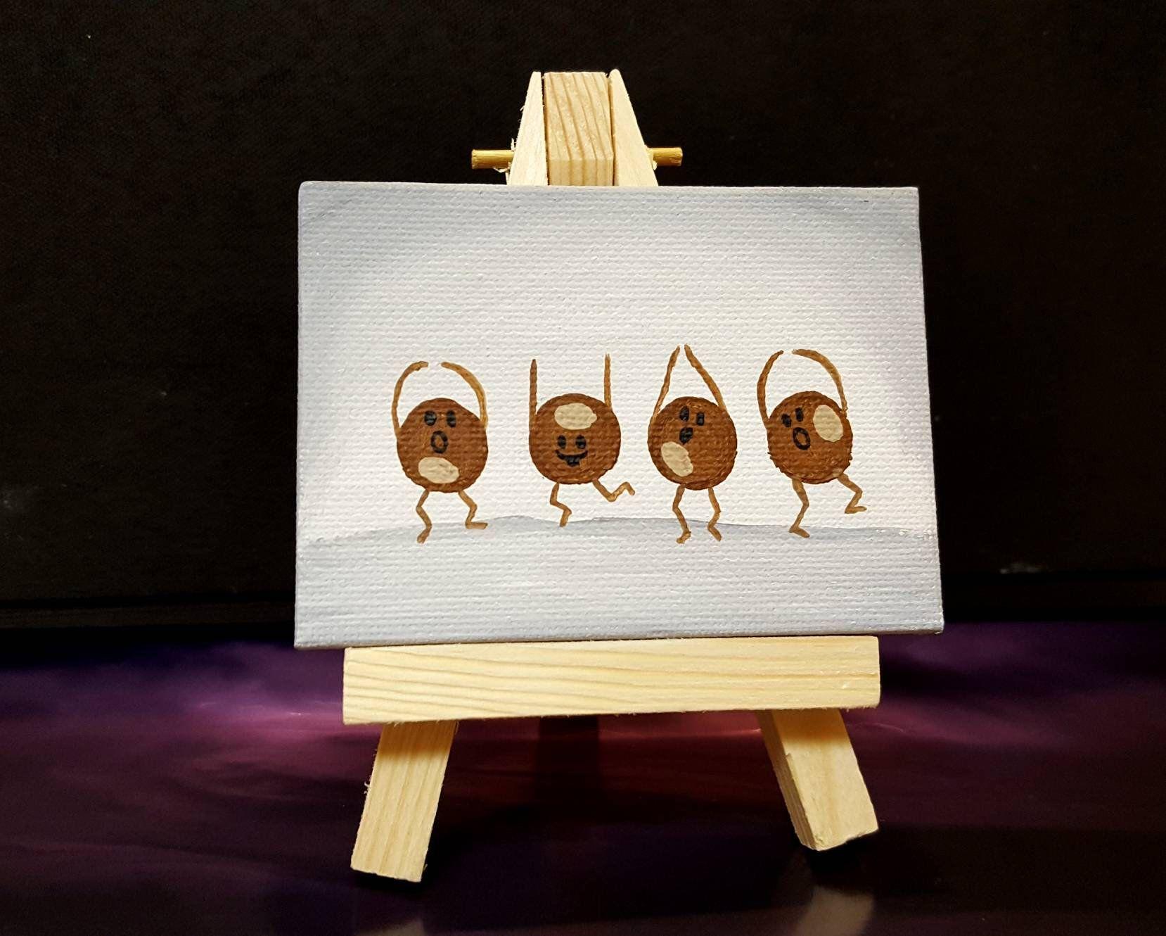 Buckeye painting, Ohio State, Ohio Buckeyes miniature painting.