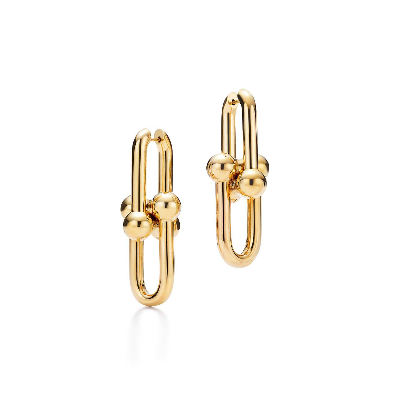Tiffany hardwear link earrings tiffany