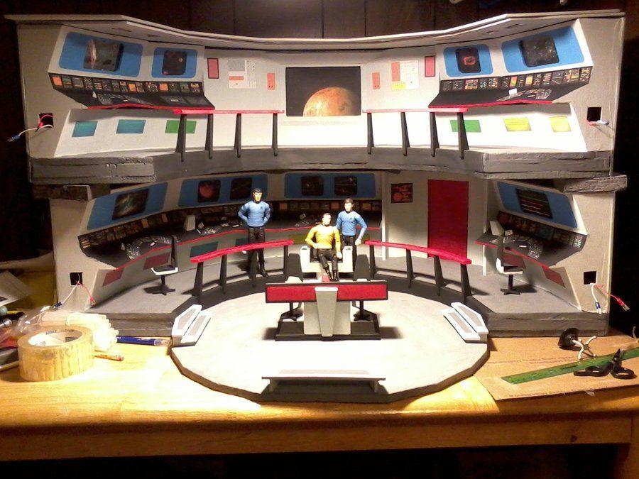 My attempt at making the original Star Trek USS Enterprise bridge