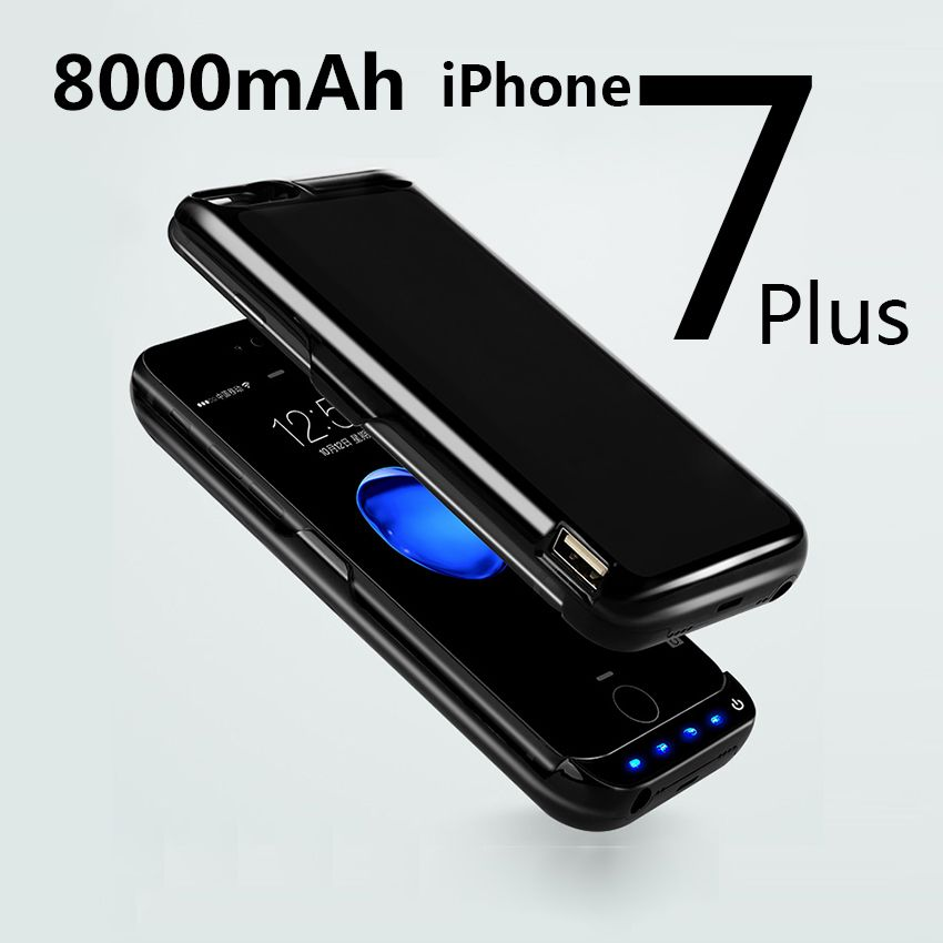 8000mah Wireless Power Bank Case For Iphone 7 Plus Best Cheap Phones Power Bank Case Iphone 7 Plus Powerbank