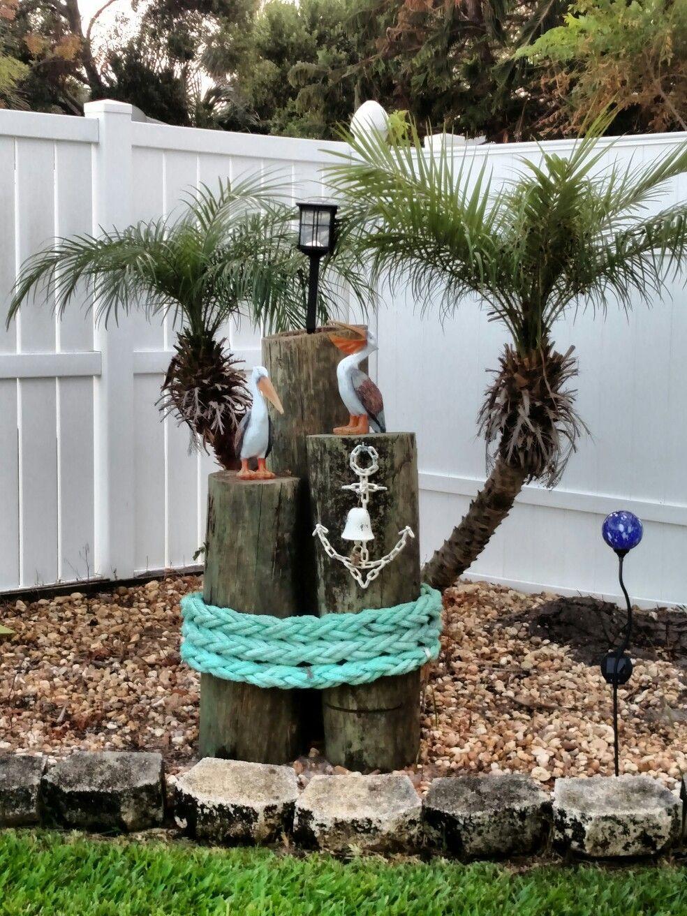 Garden Decor Campsiteideas Nautical Outdoor Decor Beach House Decor Garden Decor