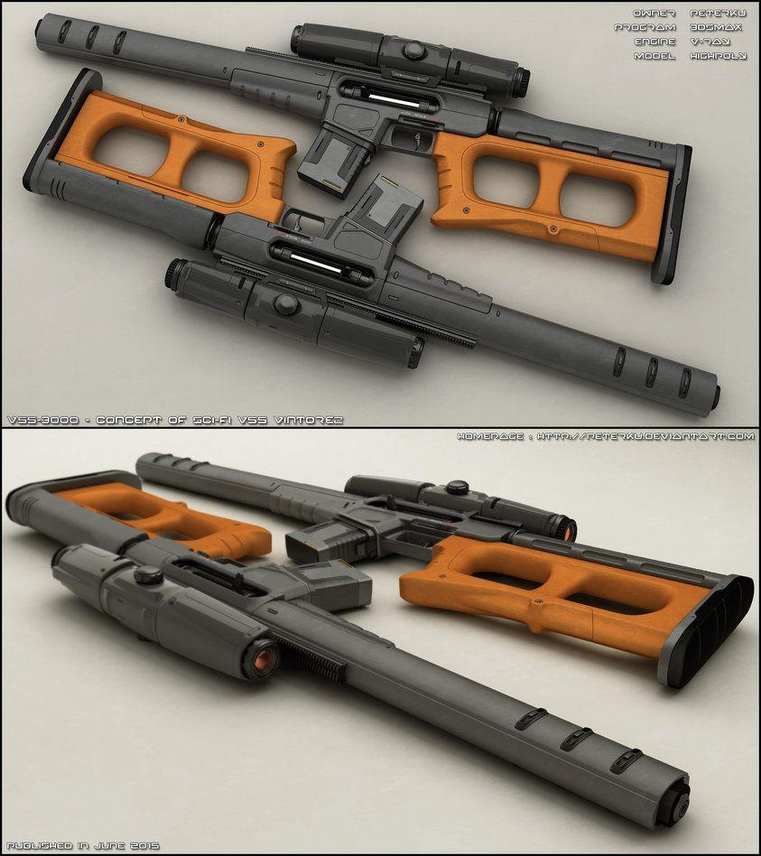 PANTHER   Concept Of Sci Fi Rifle. Week Ago I Uploaded Handgun ( Peterku.