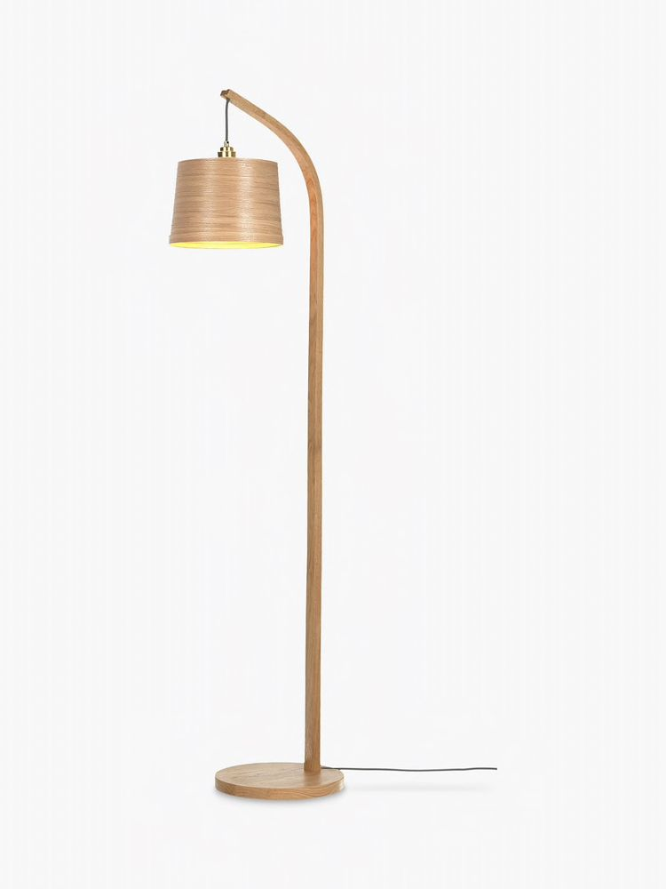 Tom Raffield Mullion Floor Lamp Solid Oak Floor Lamp Solid Oak Wooden Lampshade