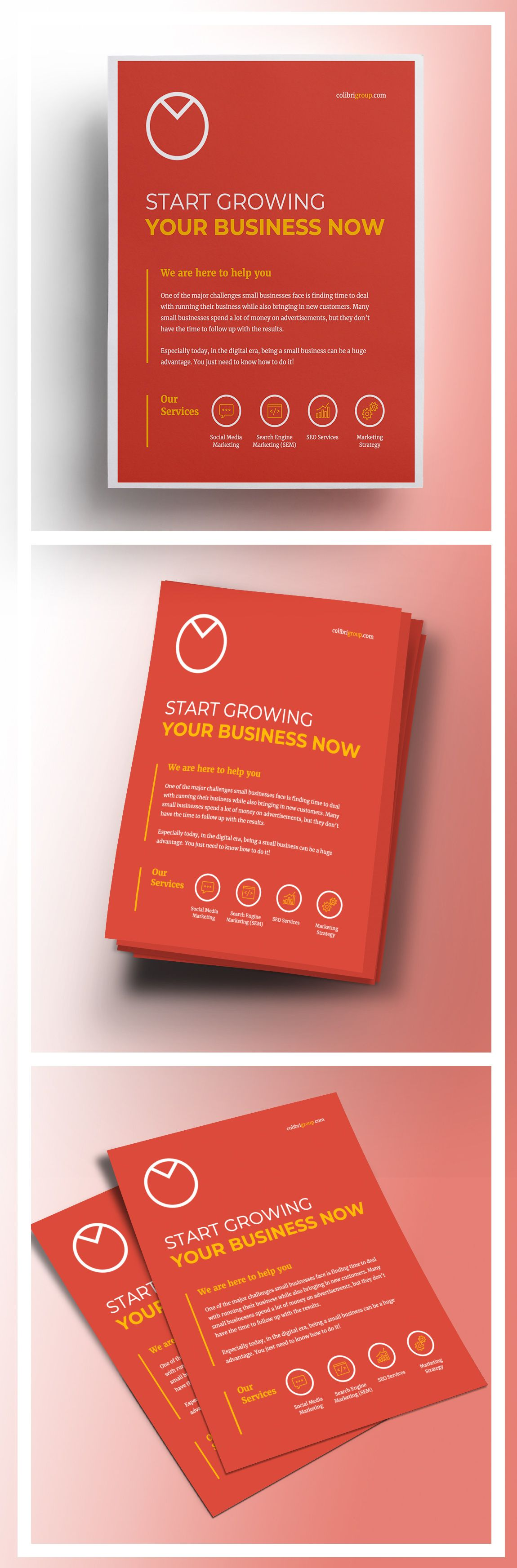 Corporate Marketing Flyer Template Flyers