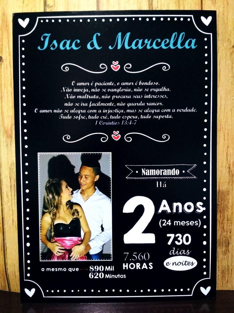 Placa Decorativa Romantica Para Casais Namorados Brinde Codigo