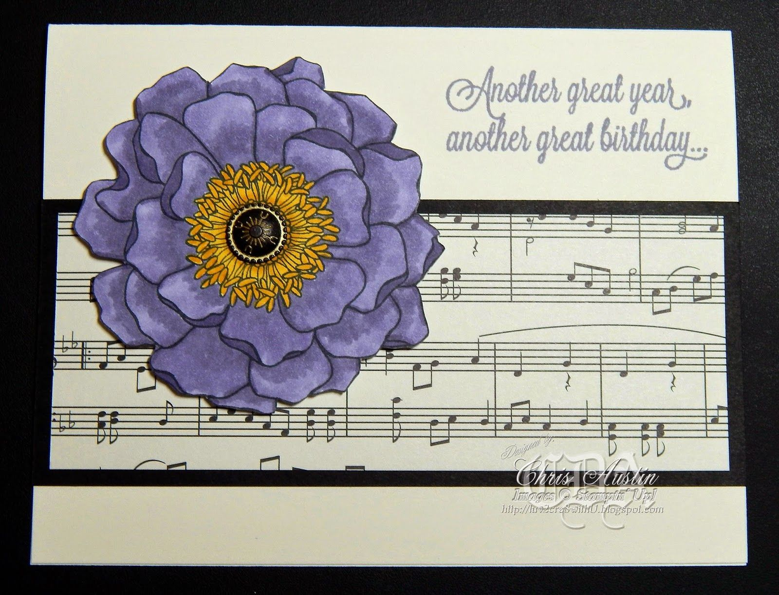 Blended Bloom Birthday Card
