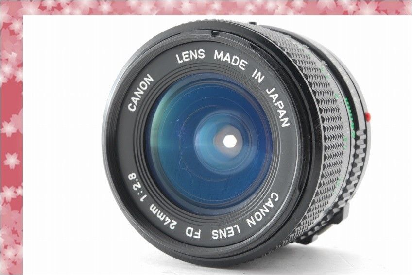 Mint] CANON LENS NEW FD 24mm F2 8 Wide Angle 24 2 8 From Japan #9