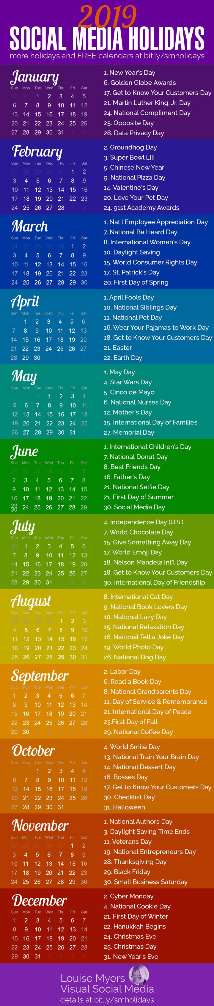 100 Social Media Holidays You Need In 2020 21 Indispensable Social Media Calendar Social Media Social Media Marketing