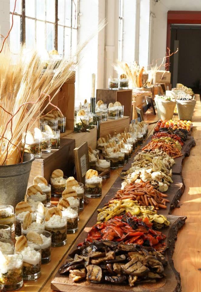 Pin by Lindley Schneider on Della Terra Catering  Hochzeitsessen Hochzeit Buffet Hochzeit Kse