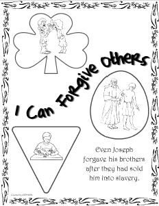 Coloring pages about forgiveness ~ I can forgive others | Fun things for the kids | School ...