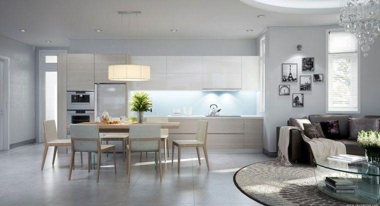 Image result for cuisine ouverte sur sejour Kitchen Pinterest - cuisine ouverte sur salon m