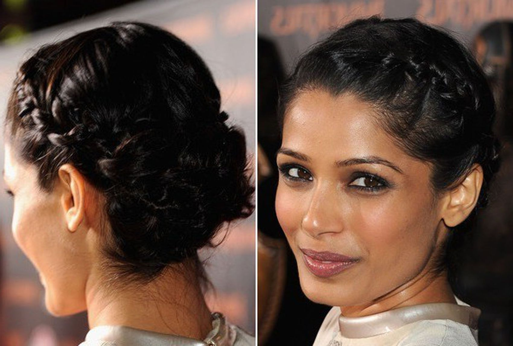 1700s hairstyles | classic french braid hairstyles by freida pinto