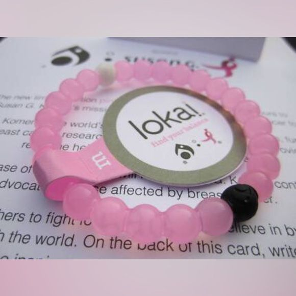 Pink Breast Cancer Awareness Lokai Size Medium. NWT. Bought it at the hallmark store the day it came out and they only had mediums. It's too big but I bought it anyway. I went back the next day and got my correct size and now I'm stuck with this one. I wear a small and I knew the medium would be too big so I didn't even try it on. I only bought it because the lady said she wasn't sure when she's have the other sizes in Lokai Jewelry Bracelets
