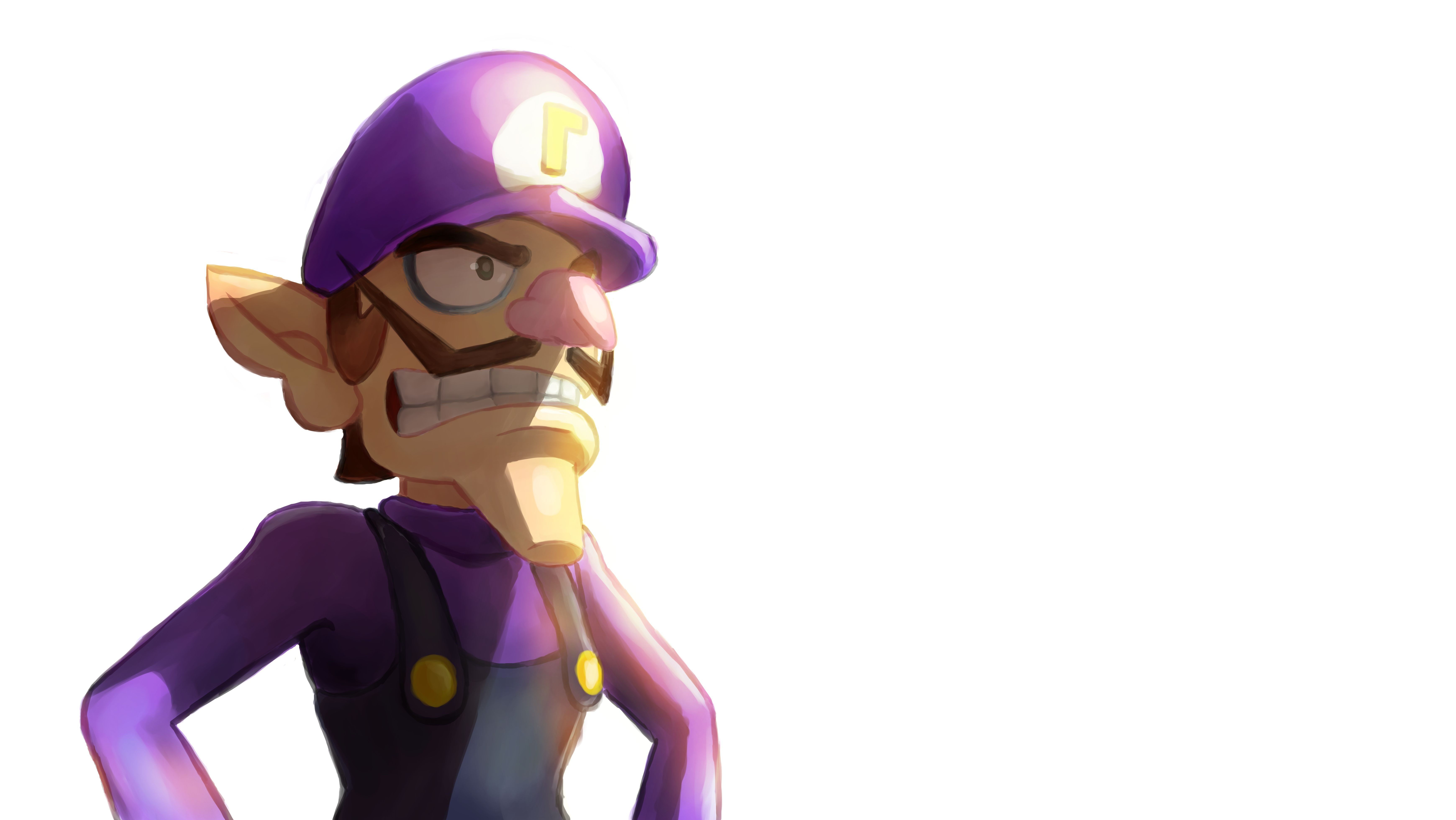 An Illustration Of Waluigi To Support The Cause Waluigi4smash Justice4waluigi Waluigi Mario Ninte Super Mario Art Super Mario Bros Super Mario Brothers