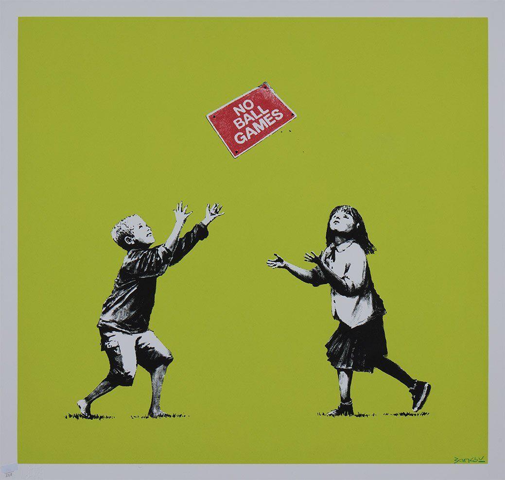 BANKSY No Ball Games (2009) Signed Print in 2020 Banksy