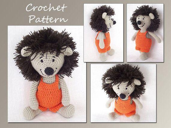 Amigurumi juguete, Hedgehog Crochet Patrón, patrón de ganchillo, Animal del ganchillo patrón, patrón de Amigurumi