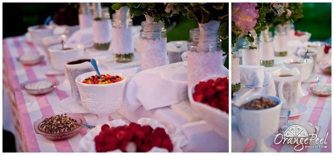 Ice Cream Sundae Bar Instead Of Wedding Cake Farmhousewedding