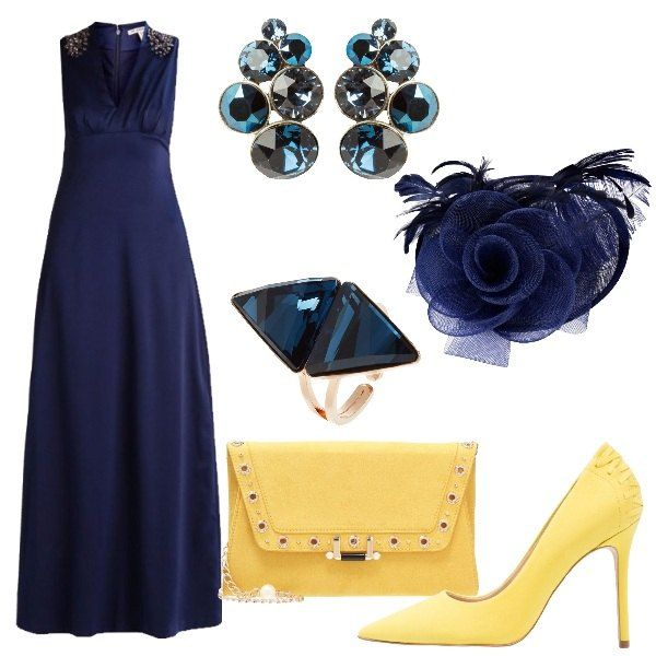 fe939f4b33 Con il fiore nei capelli: outfit donna Chic per cerimonia | Abito ...