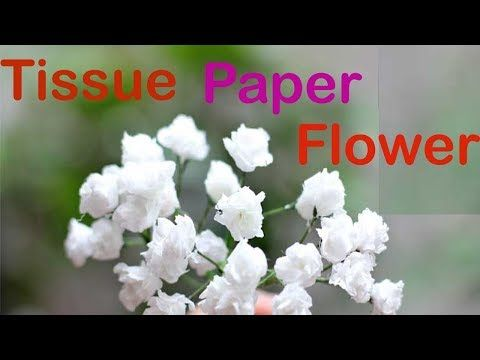 Diy Paper Baby Breath Flower From Tissue Paper Simple And