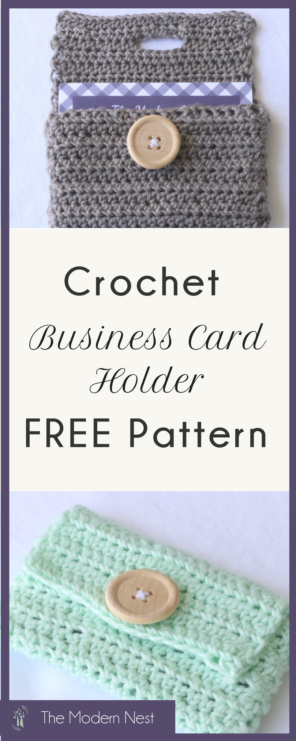 Business Card Holder Crochet Pattern   Ideas artesanales, Artesanal ...