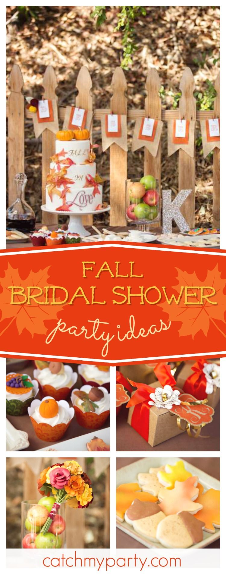83617c1a14c7 Don t miss this wonderful Fall Wedding Bridal Shower. Love the cupcakes!! See  more party ideas and share yours at CatchMyParty.com  rustic  bridalshower