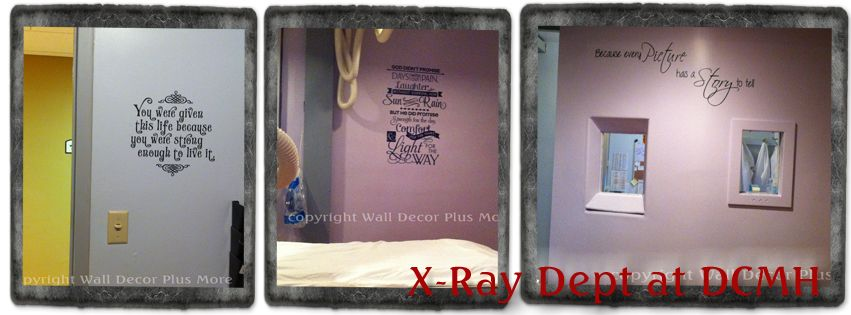 helping out the local hospital with new wall decals | inspirational