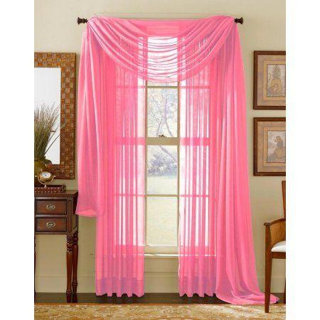 voile curtains and pelmet* single pole*Curtains for you* Romantic Voile set
