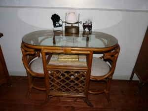 Rattan Honeymoon Table Hide Away Chairs Selling Furniture Furniture Used Furniture For Sale
