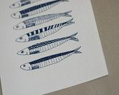 Hello Sardines - Original Gocco Print