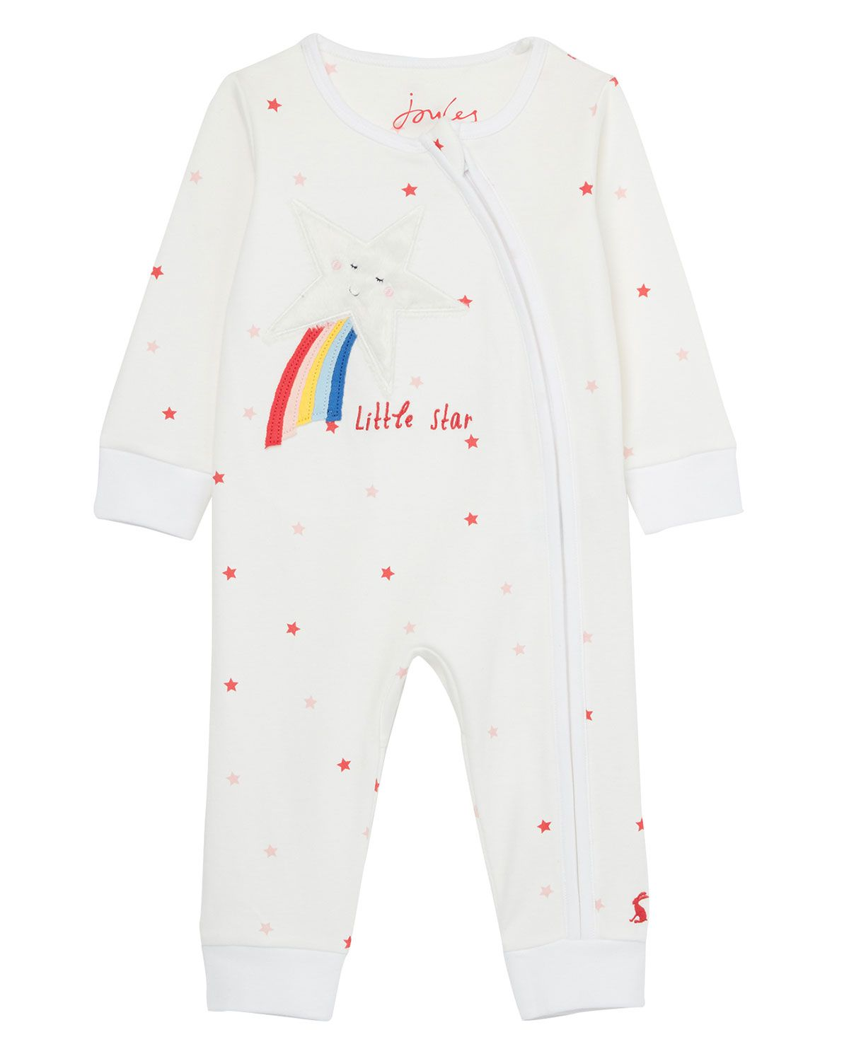 Joules Baby Cosette Reversible Jacket in WHITE STRIPE FLORAL