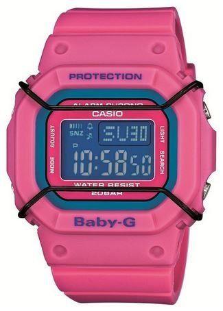 5e45e4d7eadf0 Casio Baby-G Digital Dial Pink Resin Quartz Ladies Watch BGD501-4CR. Shock
