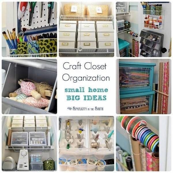 8 Craft Closet Organization Tips Craft Closet Organization Closet Hacks Organizing Small Closet Organization