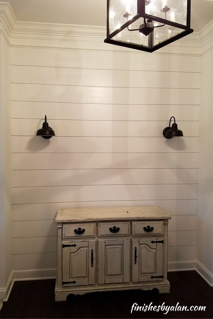 Shiplap Accent Wall In Foyer Shiplap Accent Wall Accent Wall Interior Paint