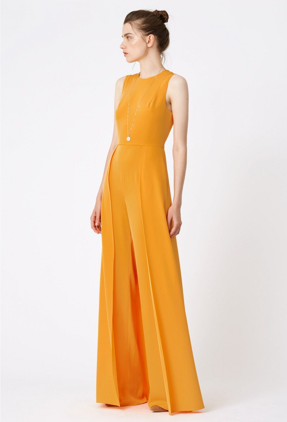 4ee5ee1b40bc AQ AQ Warp Wide Leg Jumpsuit · Orange