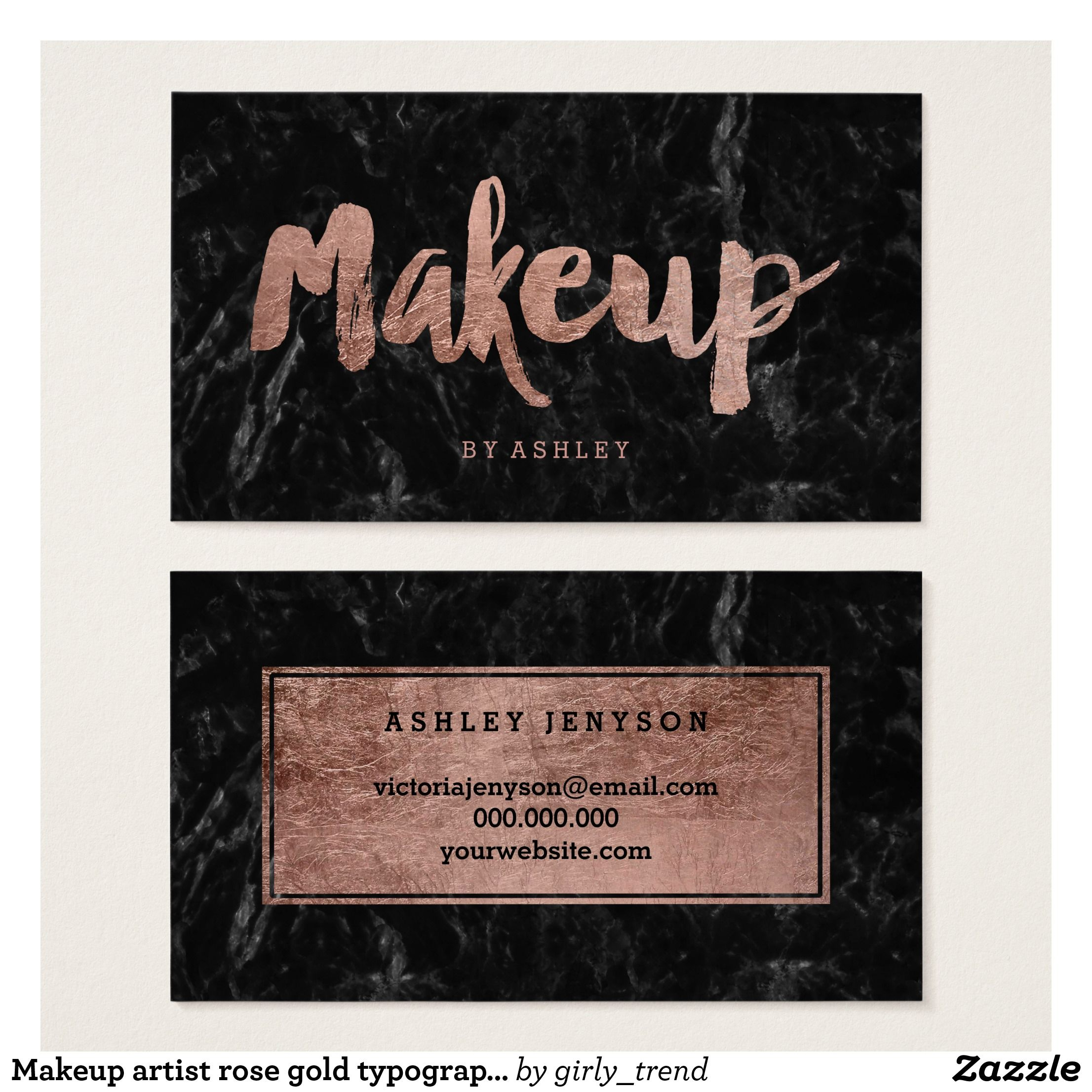 Create your own Profile Card Makeup artist
