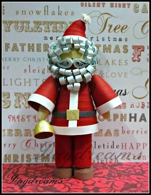 DAYDREAMS: Quilled Miniature Santa