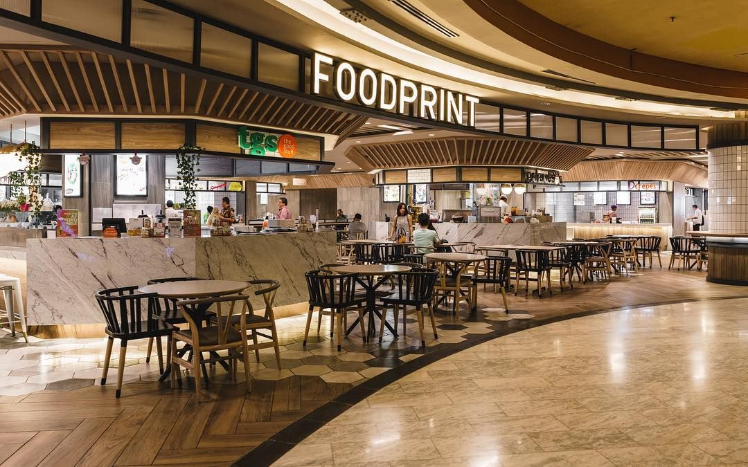 A Modern Take On A Food Court Design In Foodprint Food Court Design Food Court Mall Food Court