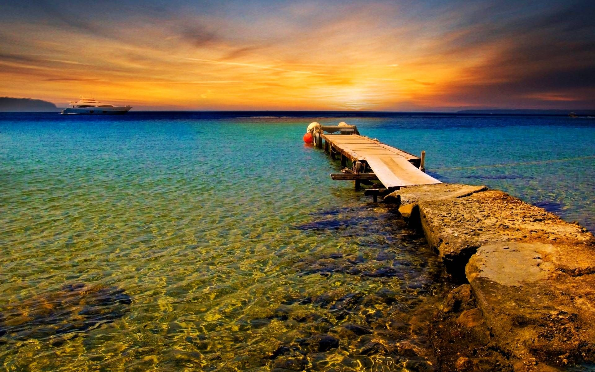 Beautiful Beach Sunset Wallpaper