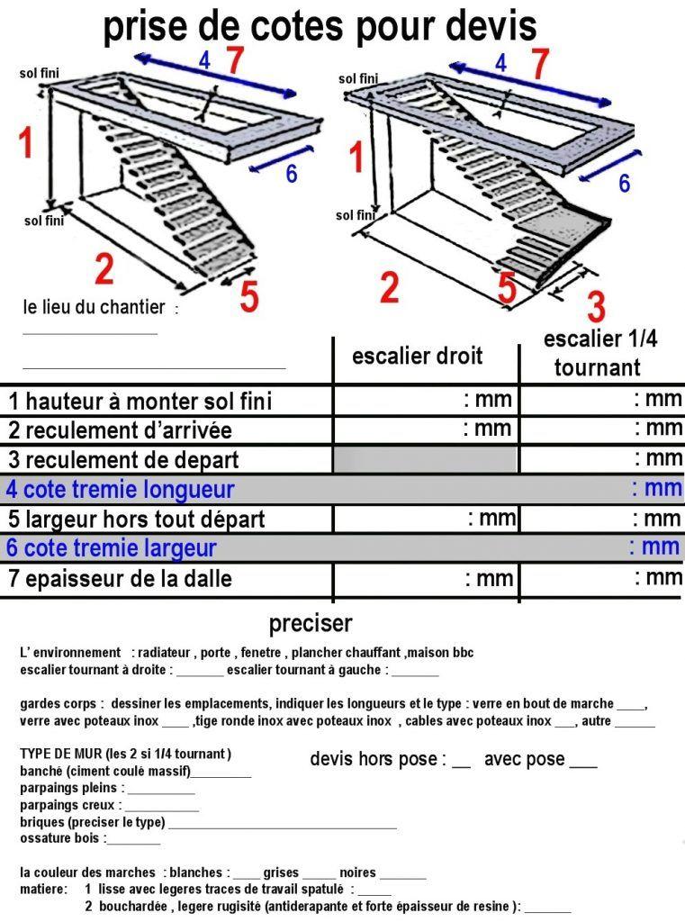 Diionner Un Escalier Of Hauteur E Standard Avec Calcul Quart