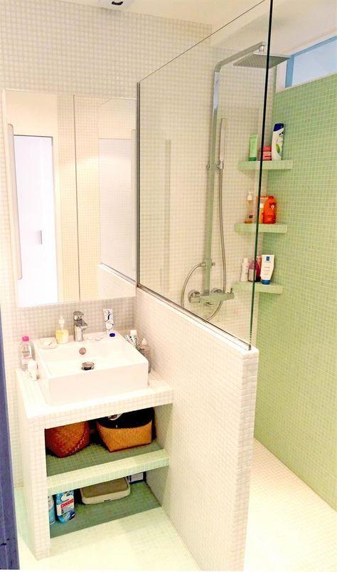 Optimisation du0027une toute petite salle de bain parisienne dans - decoration salle de bain moderne