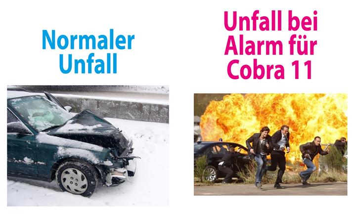 Normaler Unfall / Unfall bei Alarm für Cobra 11 | Funny | Funny