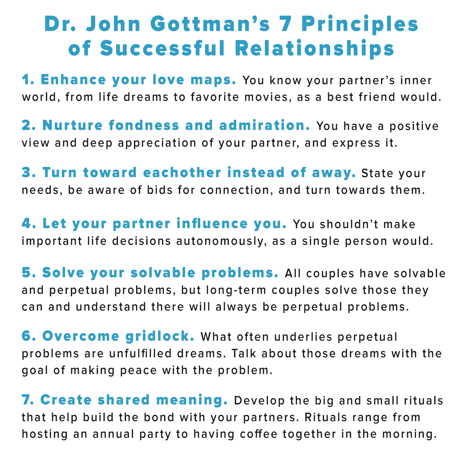 Dr John Gottman S 7 Principles Of Successful
