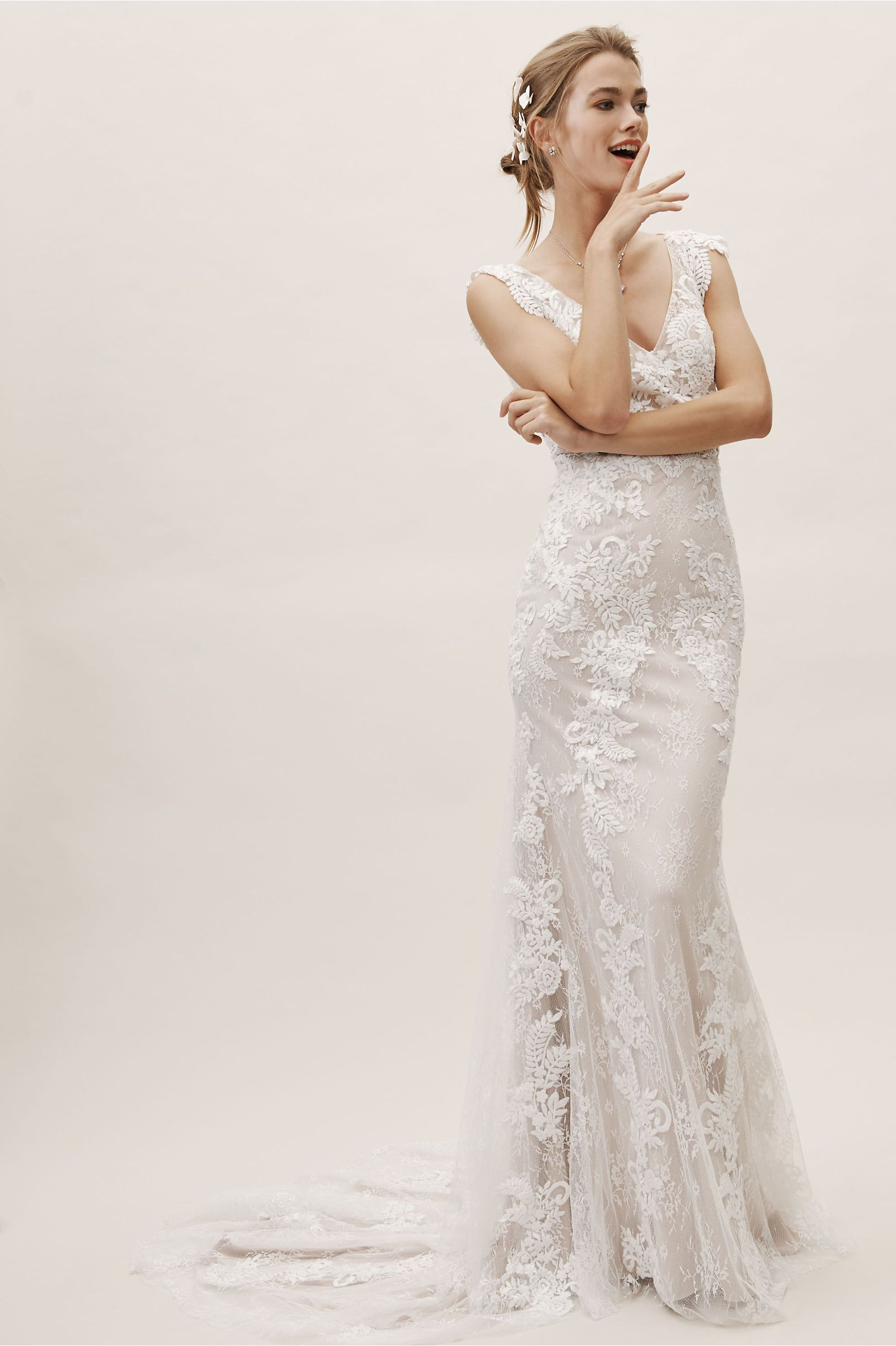 6102670314 BHLDN's Whispers & Echoes Milano Gown in Ivory/nude | Products in ...
