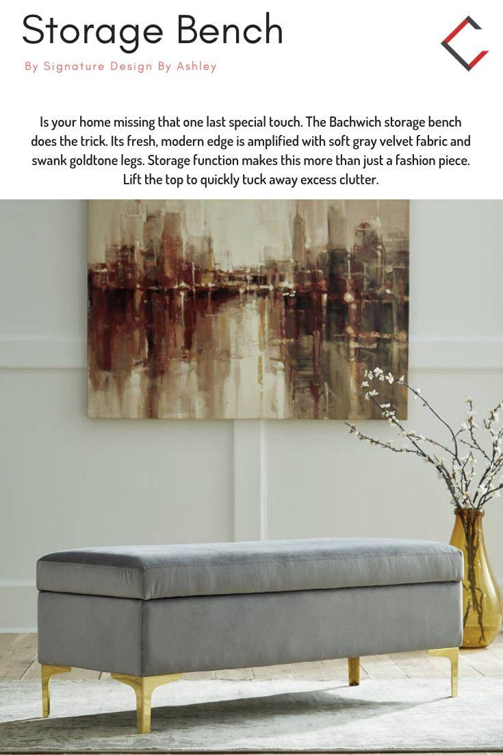 Surprising Ashley Furniture Bachwich Gray Storage Bench The Classy Machost Co Dining Chair Design Ideas Machostcouk