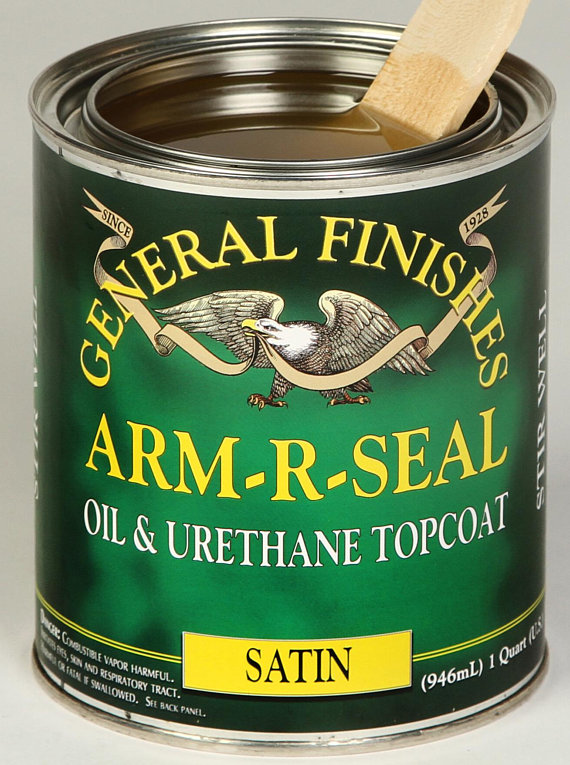 General Finishes Arm R Seal Oil Urethane Topcoat Varnish Satin Semi Gloss Gloss It Is Finished General Finishes Walnut Slab