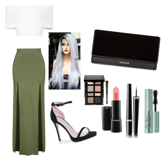 """""""Outfit #77"""" by kimyyy-cx ❤ liked on Polyvore featuring Rosetta Getty, Topshop, Boohoo, Balmain, MAC Cosmetics, Bobbi Brown Cosmetics, Chanel and Too Faced Cosmetics"""