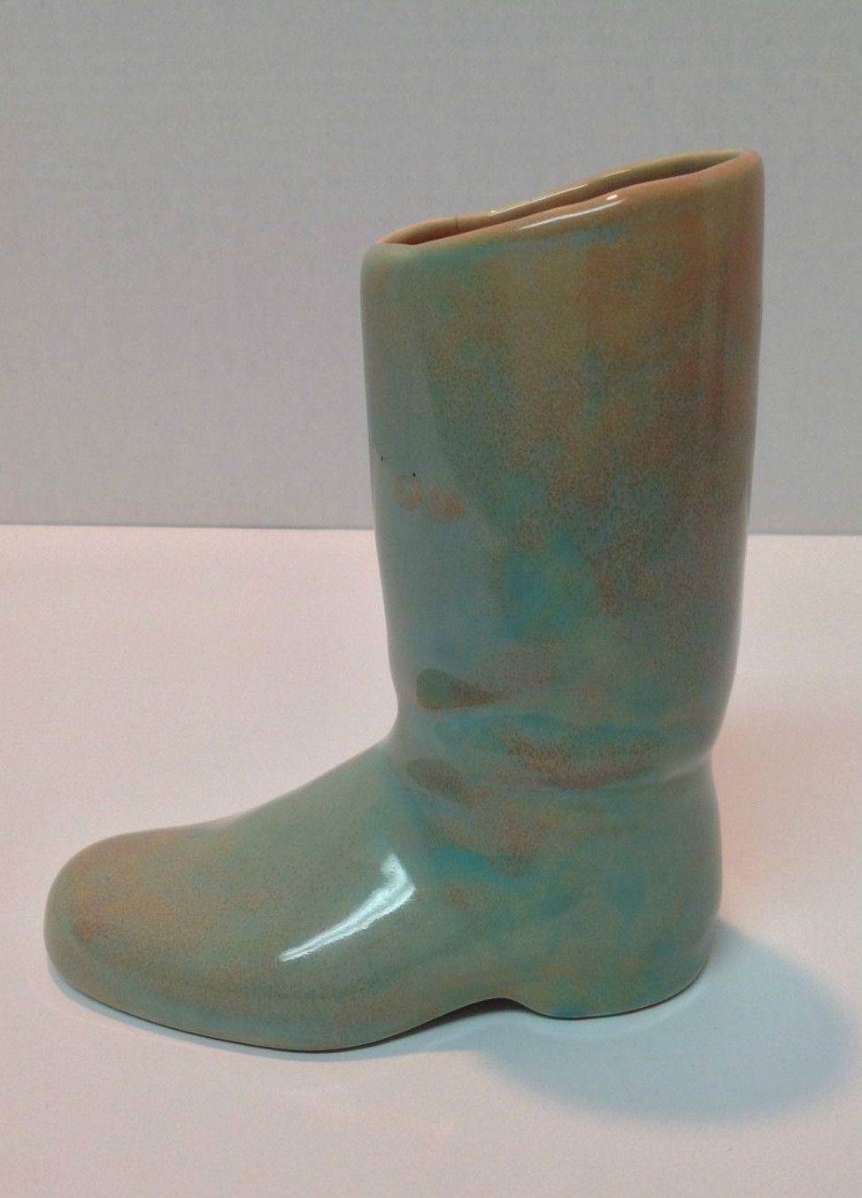 "KTK California pottery boot planter #109 6.5"" x 5.5 inches"