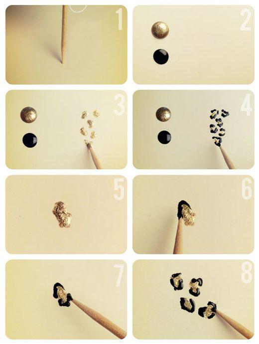 How To Animal Print Nails Uñas Pinterest Cosas de navidad - cosas de navidad